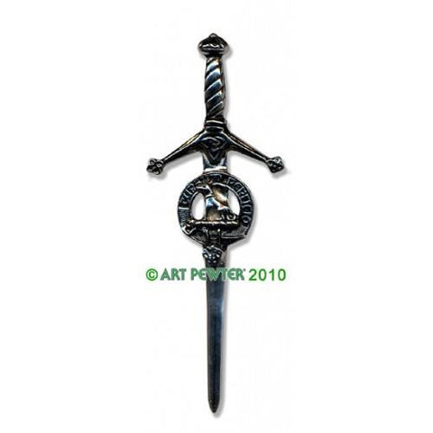 Hunter Clan Crest Pewter Kilt Pin | Scottish Shop