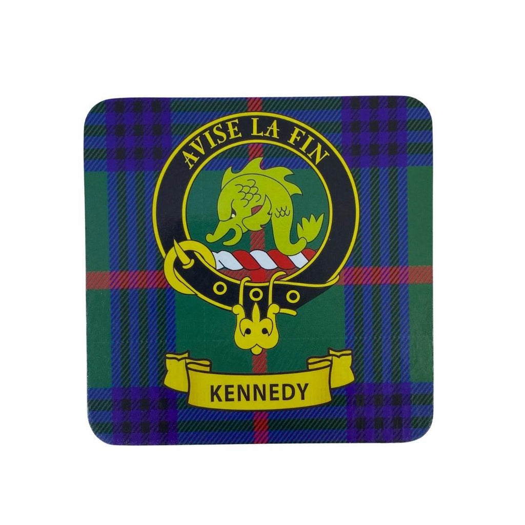 Kennedy Clan Crest Cork Coaster | Scottish Shop