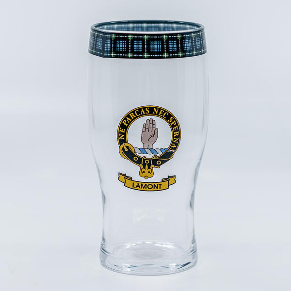 Lamont Clan Crest Pint / Beer Glass | Scottish Shop