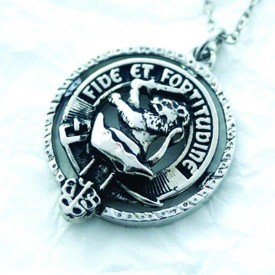 Leslie Clan Crest Pendant/Necklace | Scottish Shop