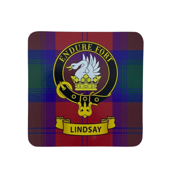 Lindsay Clan Crest Cork Coaster | Scottish Shop