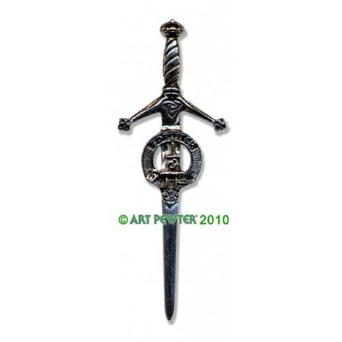 MacAllister Clan Crest Pewter Kilt Pin | Scottish Shop