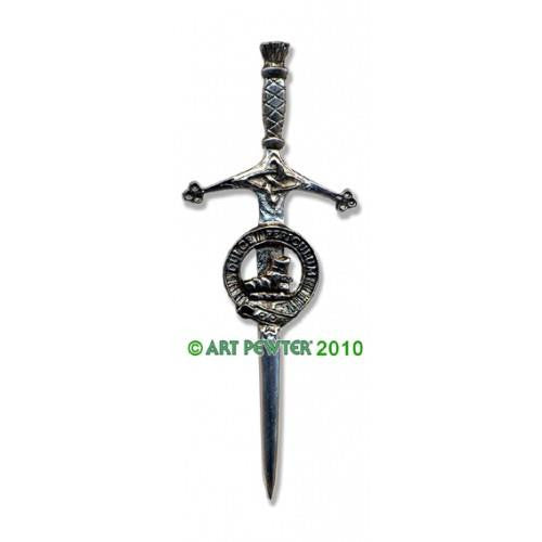 MacAulay Clan Crest Pewter Kilt Pin | Scottish Shop
