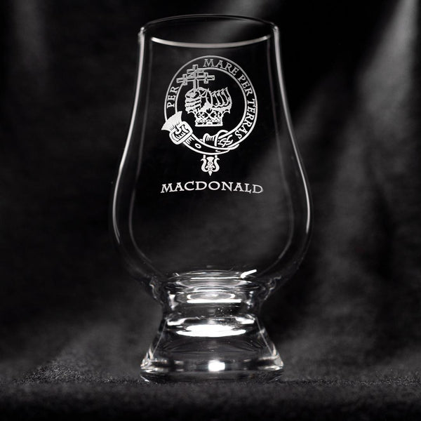 MacDonald Clan Glencairn Whisky Glass | Scottish Shop