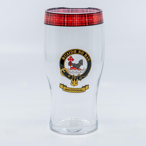 MacDougall Clan Crest Pint / Beer Glass | Scottish Shop