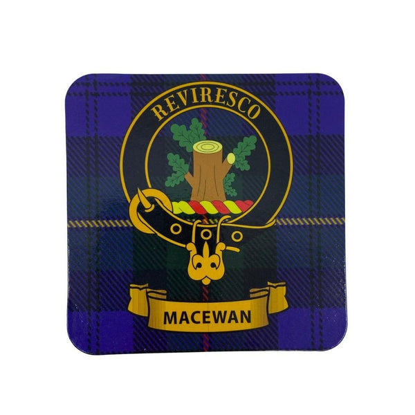 MacEwan Clan Crest Cork Coaster | Scottish Shop