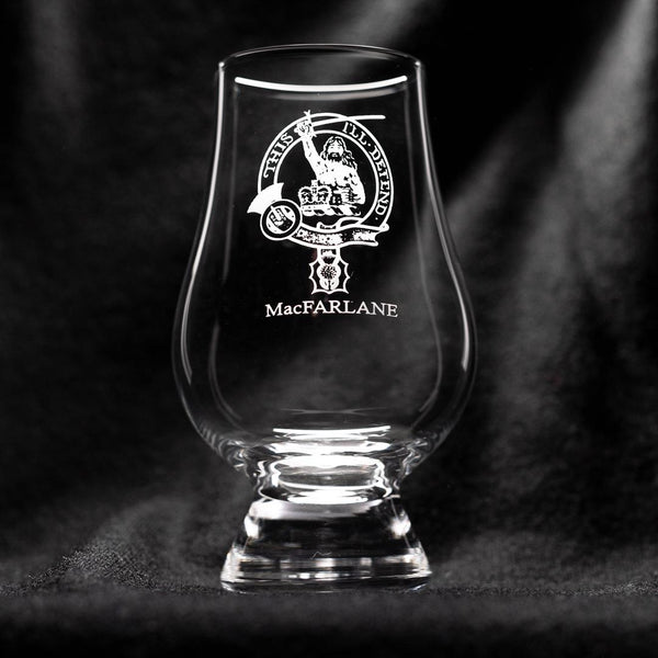 MacFarlane Clan Glencairn Whisky Glass | Scottish Shop