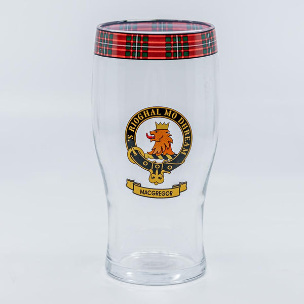 MacGregor Clan Crest Pint / Beer Glass | Scottish Shop
