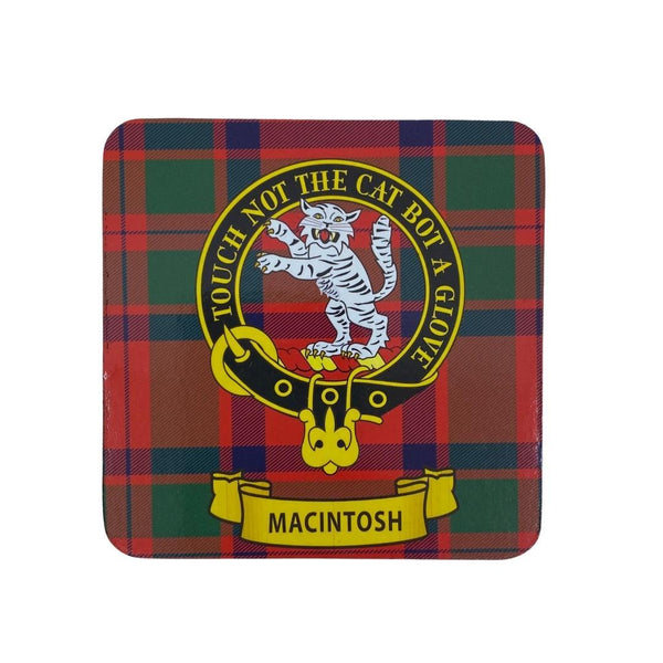 MacIntosh Clan Crest Cork Coaster | Scottish Shop