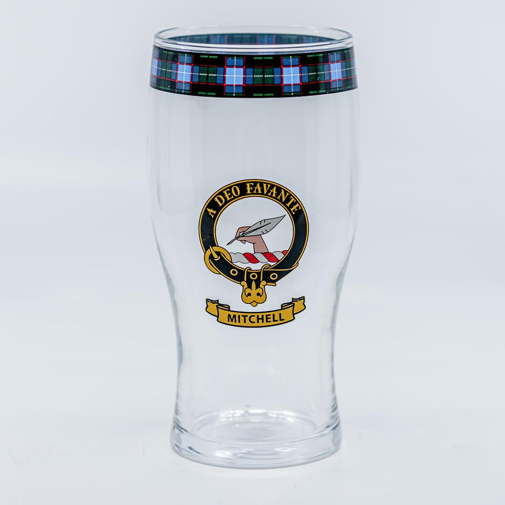 Mitchell Clan Crest Pint / Beer Glass | Scottish Shop