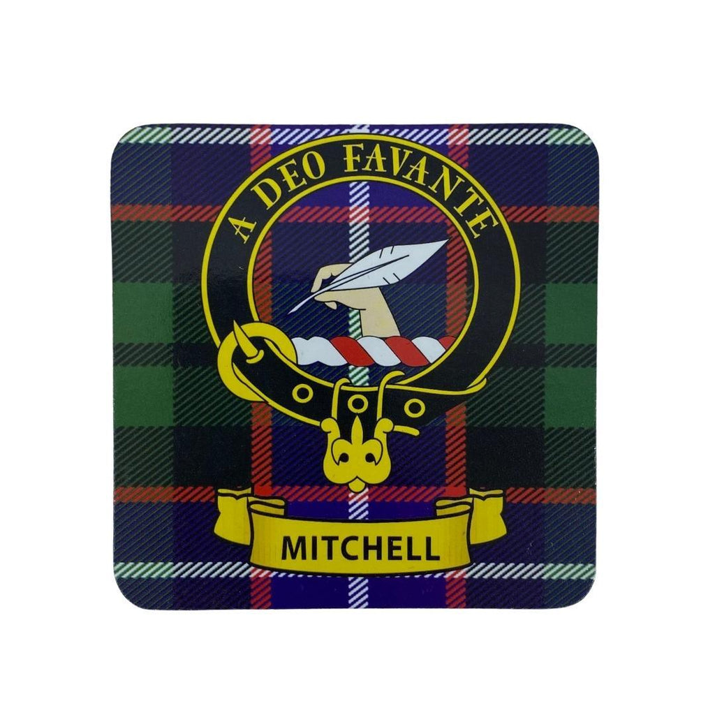 Mitchell Clan Crest Cork Coaster | Scottish Shop