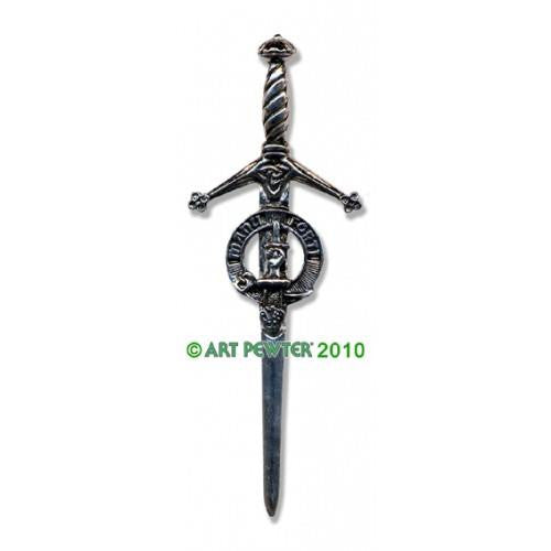 MacKay Clan Crest Pewter Kilt Pin | Scottish Shop
