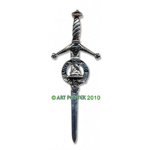 MacKenzie Clan Crest Pewter Kilt Pin | Scottish Shop
