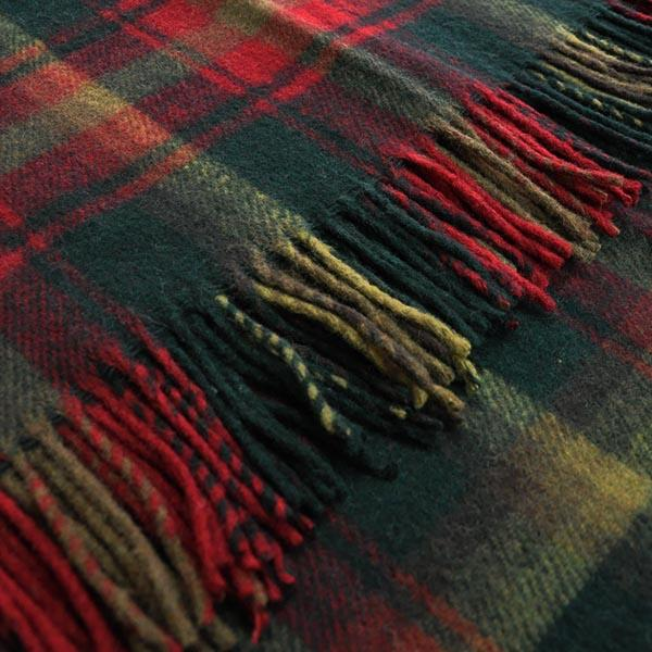 Maple Leaf Tartan Blanket, Throw, Rug | Scottish Shop