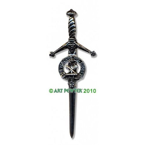 MacLaine Clan Crest Pewter Kilt Pin | Scottish Shop