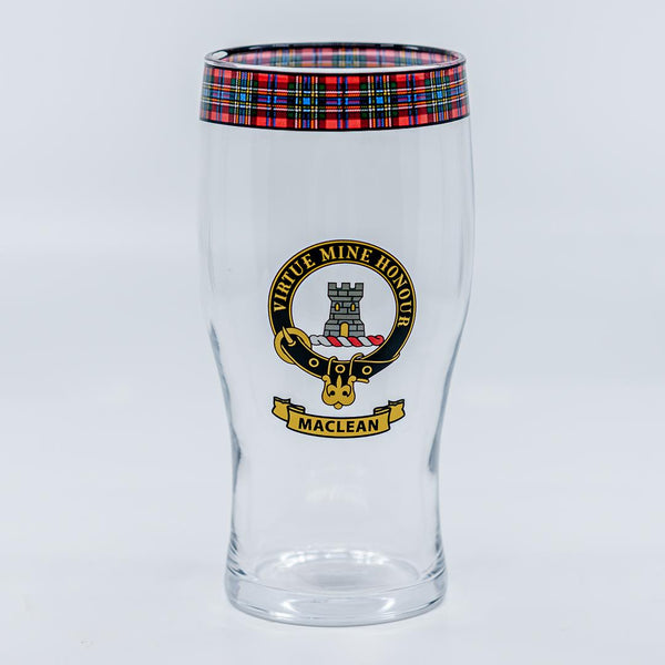 MacLean Clan Crest Pint / Beer Glass | Scottish Shop