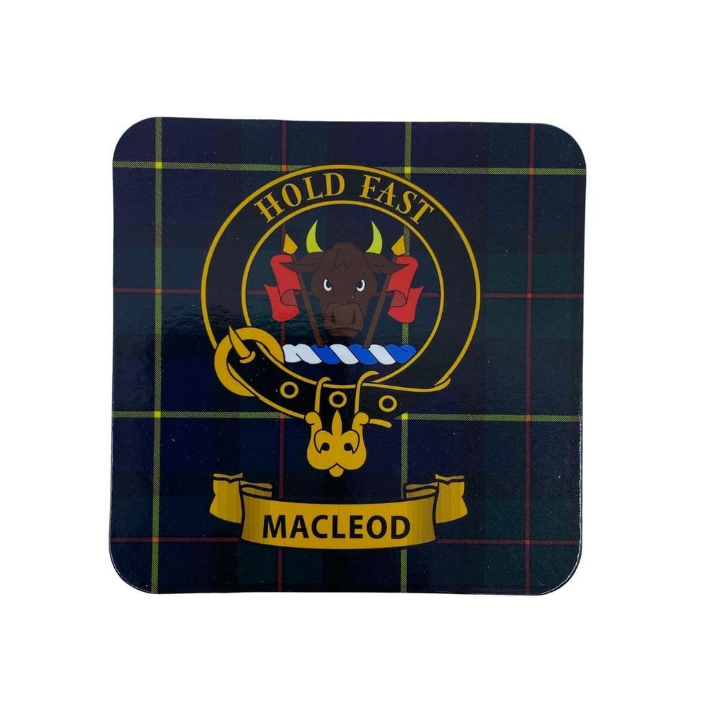MacLeod Clan Crest Cork Coaster | Scottish Shop