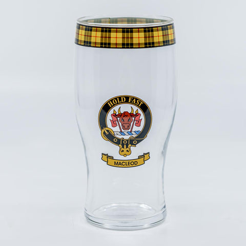 MacLeod Clan Crest Pint / Beer Glass | Scottish Shop
