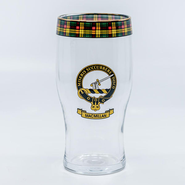 MacMillan Clan Crest Pint / Beer Glass | Scottish Shop