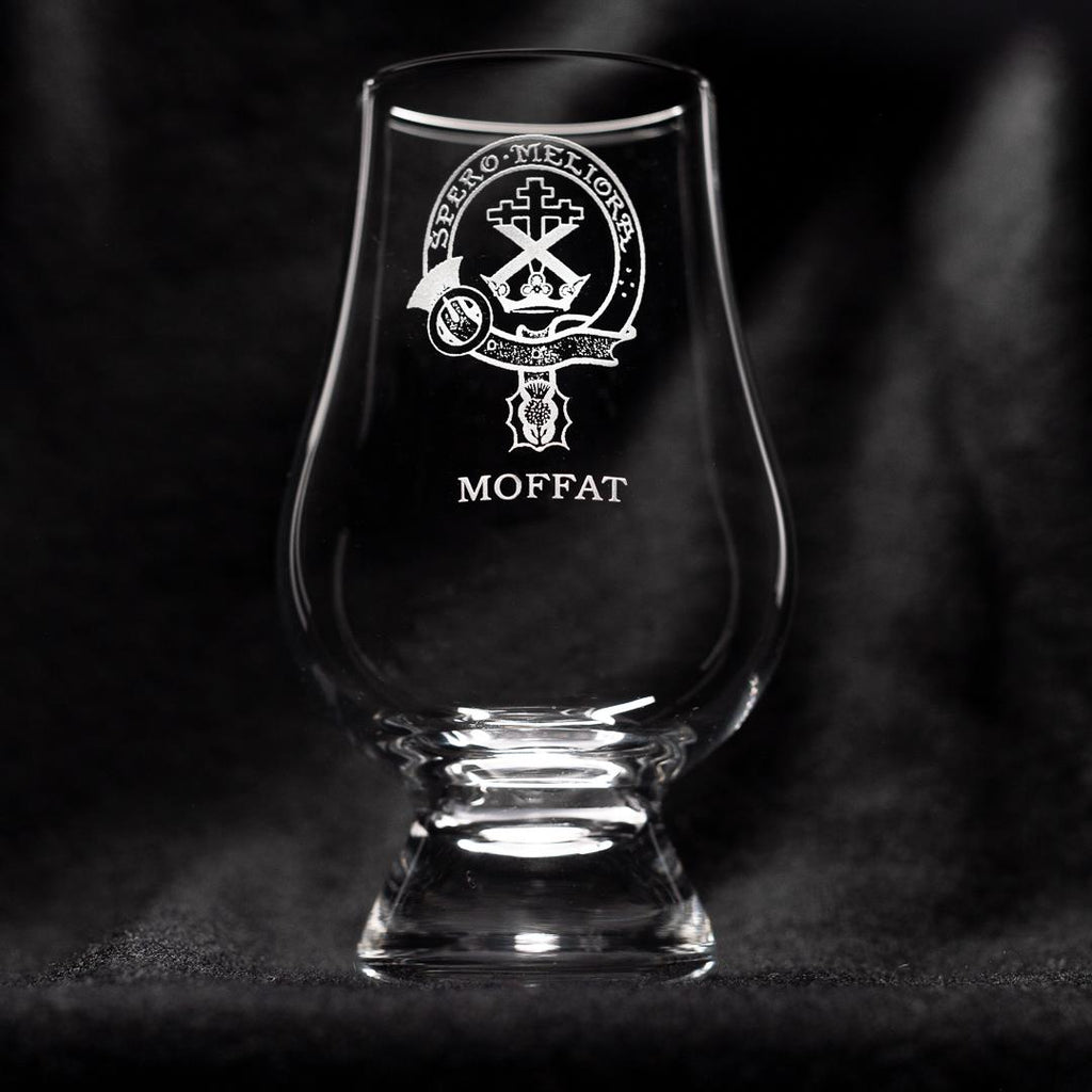 Moffat Clan Glencairn Whisky Glass | Scottish Shop