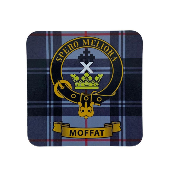 Moffat Clan Crest Cork Coaster | Scottish Shop
