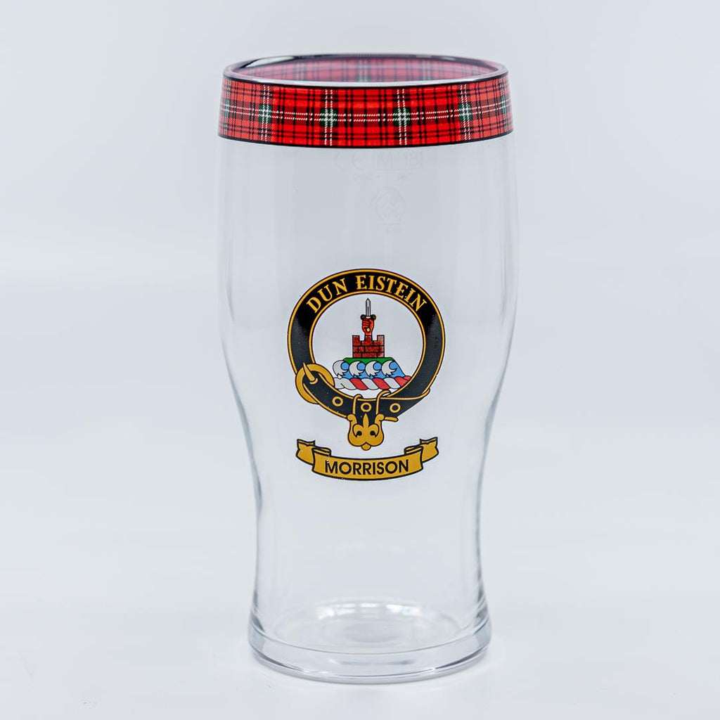 Morrison Clan Crest Pint / Beer Glass | Scottish Shop
