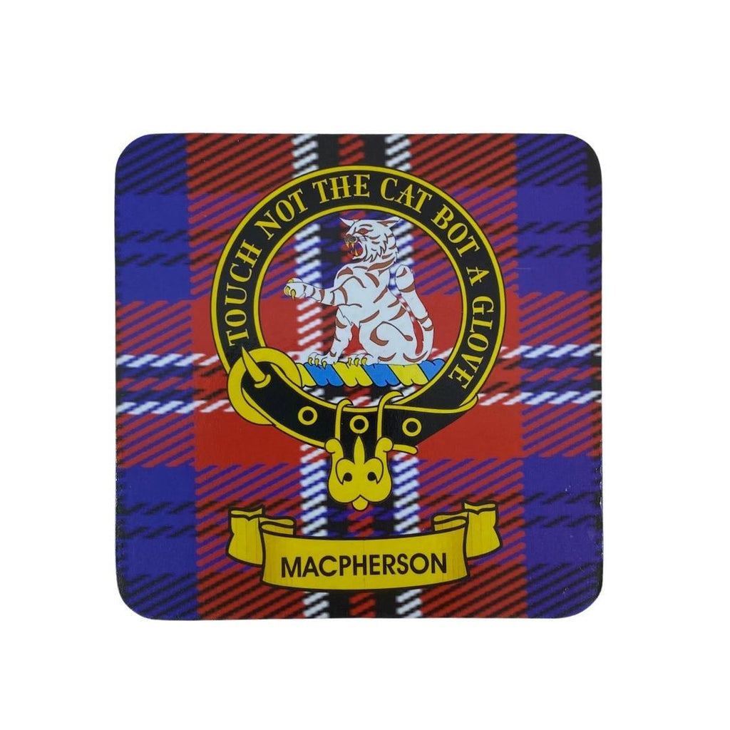 MacPherson Clan Crest Cork Coaster | Scottish Shop
