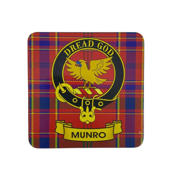 Munro Clan Crest Cork Coaster | Scottish Shop