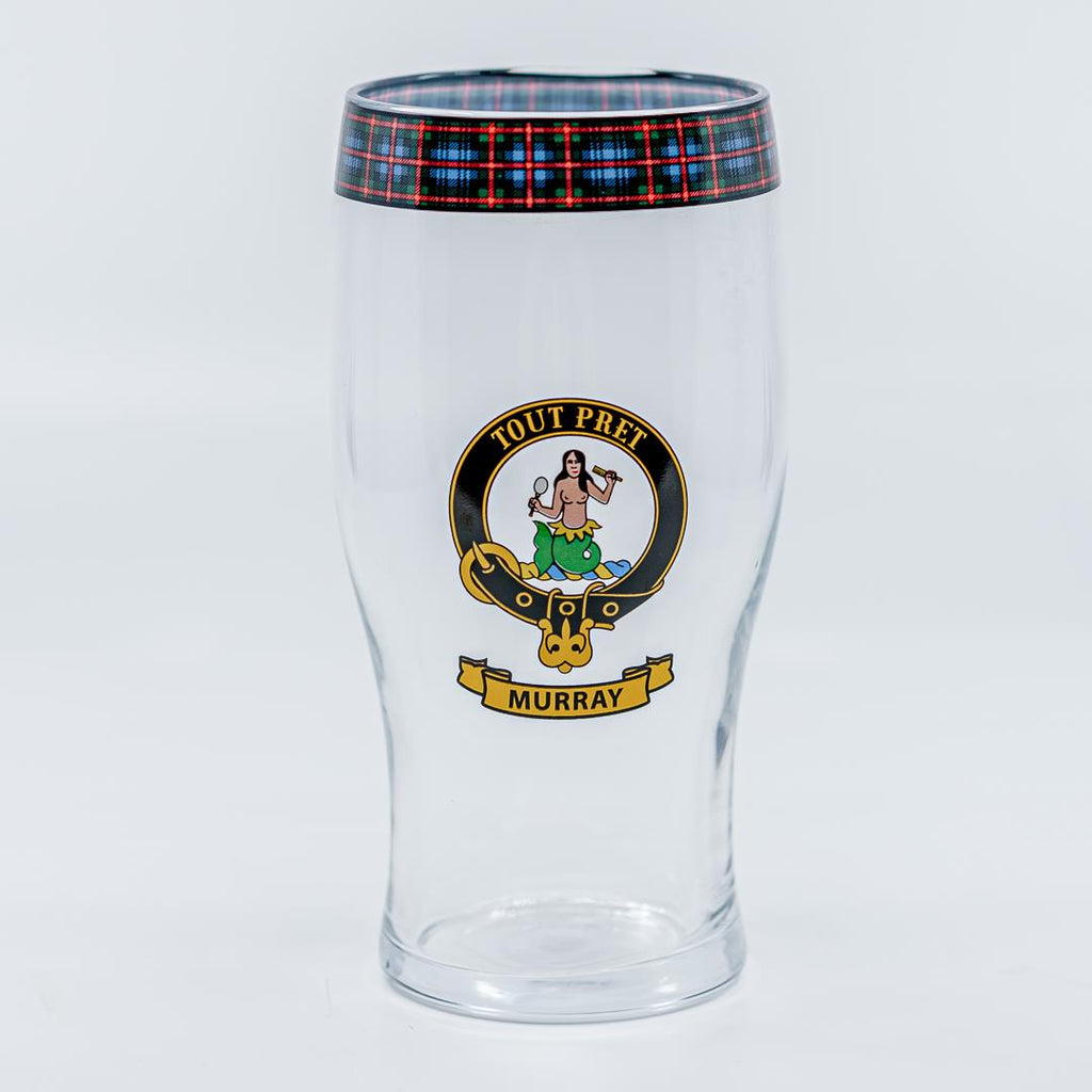 Murray Clan Crest Pint / Beer Glass | Scottish Shop