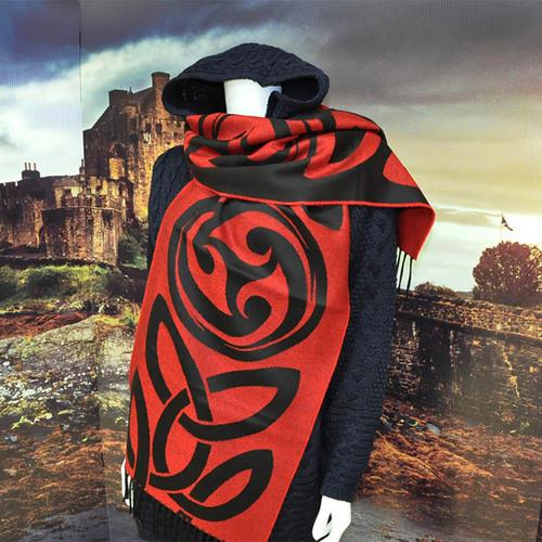 Celtic Swirl Scarf | Scottish Shop