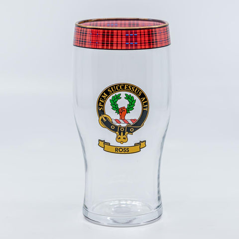 Ross Clan Crest Pint / Beer Glass | Scottish Shop