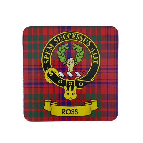 Ross Clan Crest Cork Coaster | Scottish Shop
