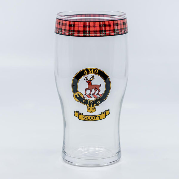 Scott Clan Crest Pint / Beer Glass | Scottish Shop