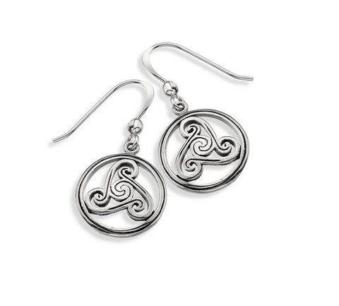 Sterling Silver Triskele Earrings | Scottish Shop