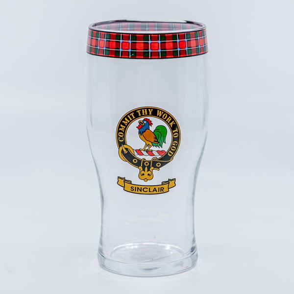 Sinclair Clan Crest Pint / Beer Glass | Scottish Shop