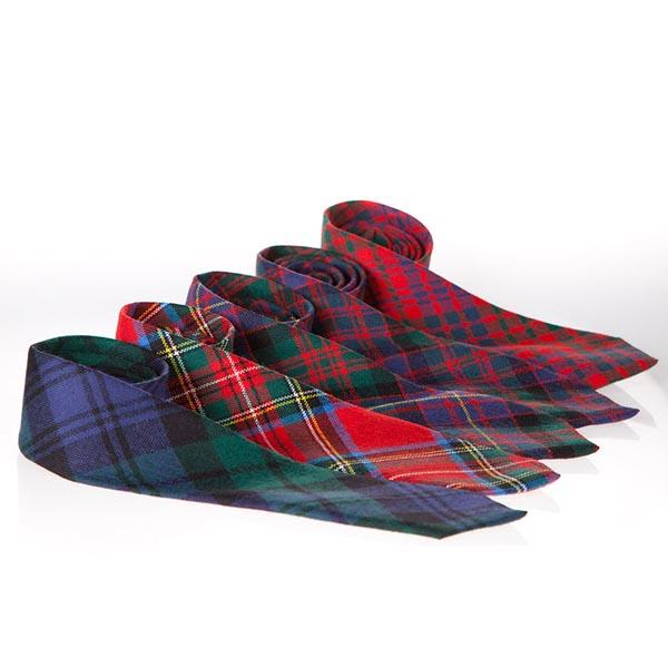 Hamilton Hunting Modern Tartan Wool Neck Tie | Scottish Shop