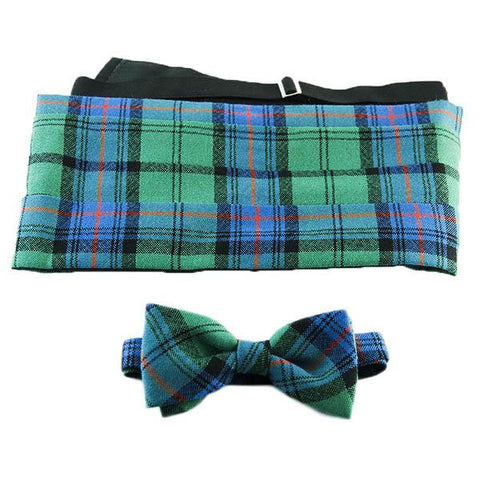 Leslie Hunting Modern Cummerbund/Bow Tie | Scottish Shop