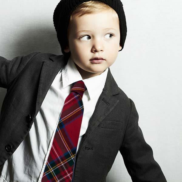 Gunn Tartan Wool Child's Neck Tie | Scottish Shop