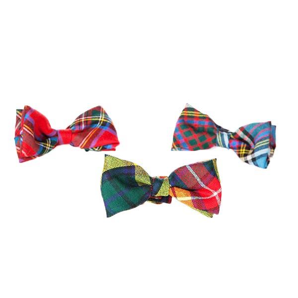 Brown Modern Tartan Childs Bow Tie | Scottish Shop