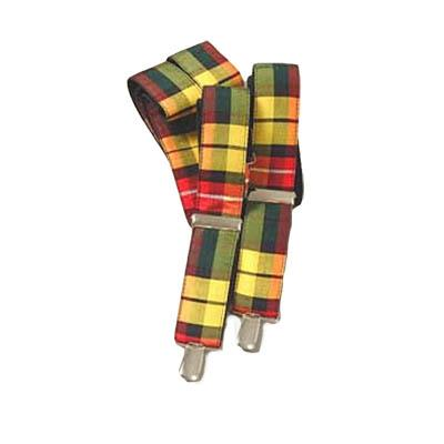 Leslie Hunting Modern Tartan Suspenders | Scottish Shop
