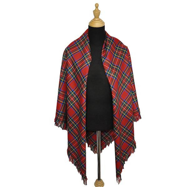 Brown Modern Ladies Tartan Shawl | Scottish Shop