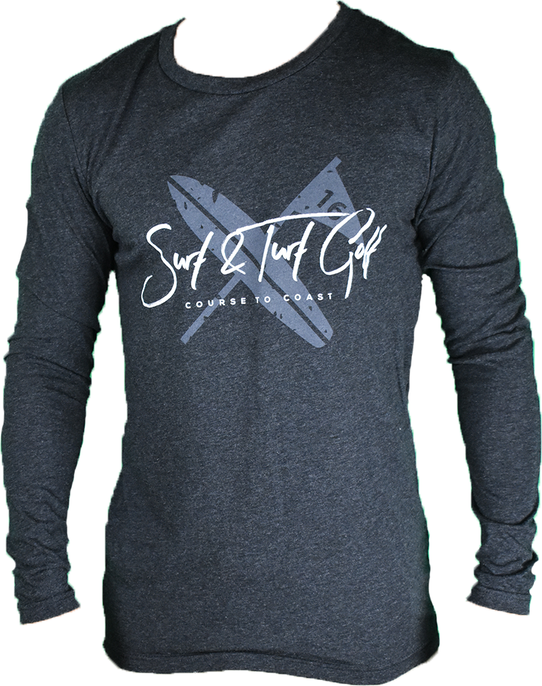 Laguna Long Sleeve-Charcoal - Surf & Turf Golf