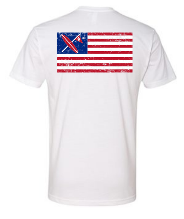 Freedom Tee White - Surf & Turf Golf