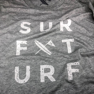 Surf Turf Tee - Gray - Surf & Turf Golf