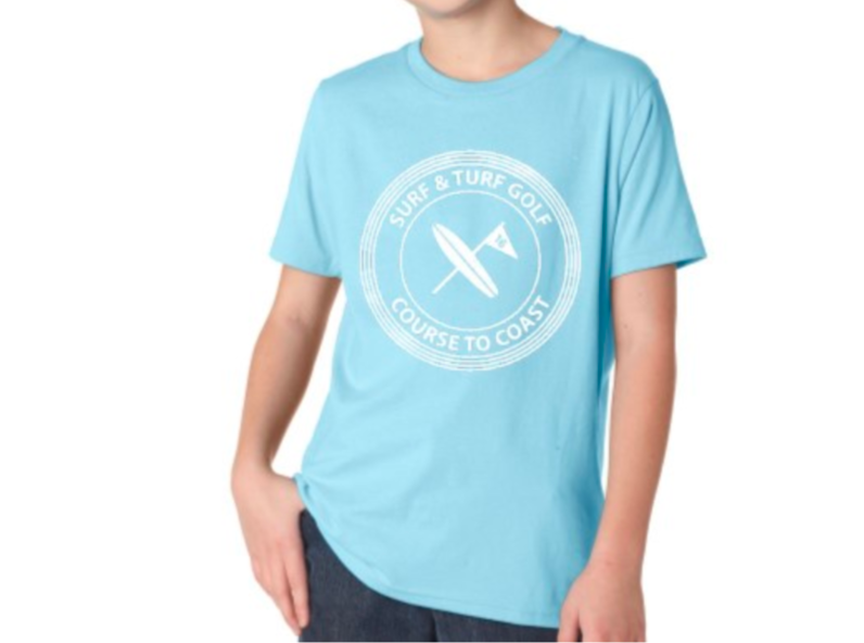 Course to Coast Kids Tee - Surf & Turf Golf