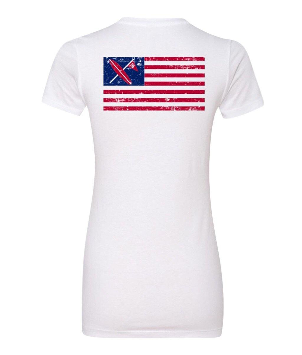 Ladies Freedom Tee White - Surf & Turf Golf