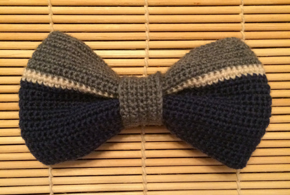 Crochet - Navy and Grey