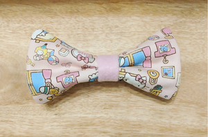 Cute Japanese Mascot Bow Tie Pink