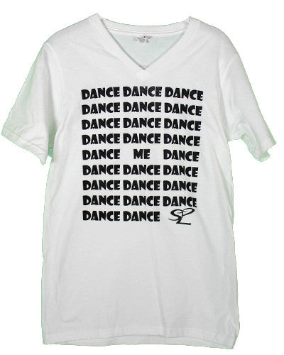 white dance shirt