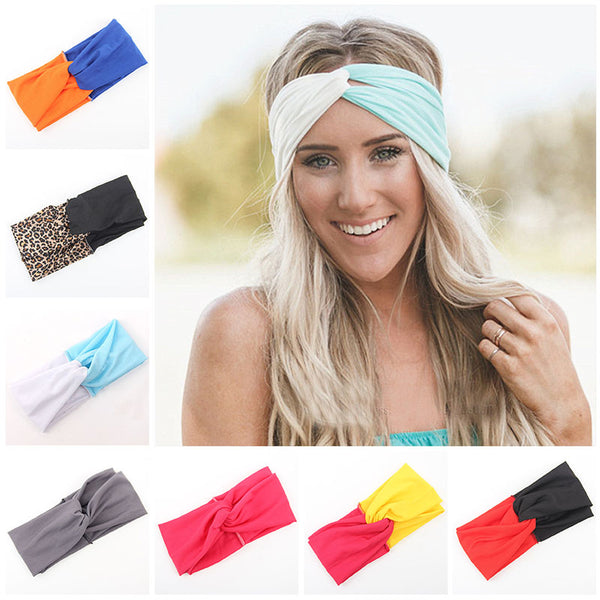 Twist Dual Tone Turban Headband